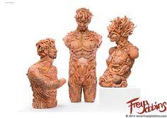Diese schaurigen Skulpturen bestehen aus zerstückelten Puppen   The Creators Project