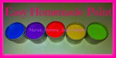 ~ Kid's #Crafts ~ Easy #Homemade #Paint
