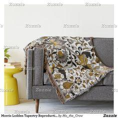 Morris Lodden Tapestry Reproduction Throw Blanket #pre-raphaelite #william morris #flowers #tapestry #woven textiles