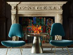 Fireplace books — Jonathan Adler