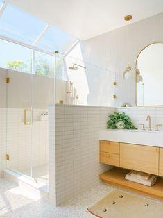 Grey Kitchen Floor, Master Bath Shower, Curved Staircase, Wide Plank Flooring, Bathroom Inspiration, Bathroom Ideas, Design Inspiration, Design Ideas, Bathroom Interior Design