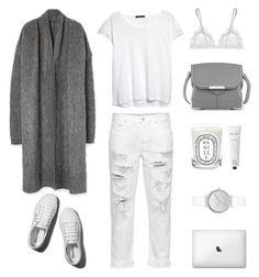 """""""Grey White"""" by fashionlandscape on Polyvore featuring Mode, Abercrombie & Fitch, Diptyque, MANGO, La Perla, Rodin Olio Lusso, Alexander Wang, Skagen und Mother"""