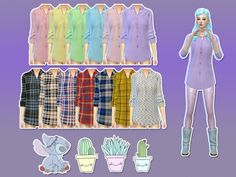 Qnie Recolor EA BG Night Shirt Set