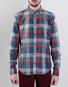 Cheap Monday Loose Pocket Shirt - Big Blue/Green Check - Kaeho Australia