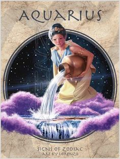 """Aquarius"" by Lorenzo Di Mauro Aquarius Moon Sign, Aquarius Pisces Cusp, Aquarius Sign, Age Of Aquarius, Virgo Zodiac, Astrology Signs, Zodiac Signs, Tarot, Chinese Astrology"