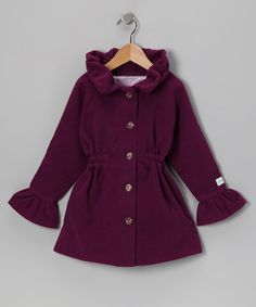 Plum Sunday Rose Coat Addie & Ella | Daily deals for moms, babies and kids