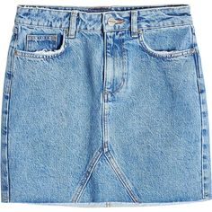 Anine Bing Cut-Off Denim Mini Skirt (510 ILS) ❤ liked on Polyvore featuring skirts, mini skirts, blue, blue denim mini skirt, short skirts, short miniskirt, short mini skirts and denim cut offs
