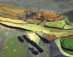 William George Gillies - Scottish (1898 - 1973) Landscape with a House and a Field
