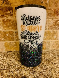 She Leaves a Little Sparkle Glitter Tumbler//Glitter Tumbler//Ombre Glitter//Ombre Tumbler//Custom Tumbler//Personalized Tumbler Glitter Cups, Sparkles Glitter, Personalized Tumblers, Custom Tumblers, Wicked Musical, Snow Theme, Custom Cups, Tumbler Designs, Insulated Tumblers