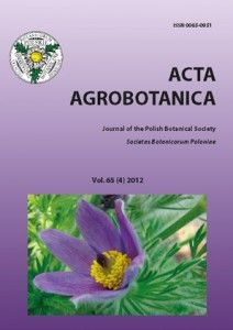 Acta Agrobotanica http://pbsociety.org.pl/journals/index.php/aa/issue/archive