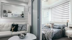 Condo interior design small In this Condo Unit, You Can Sleep, Work, and Chill All Day Studio Apartment Floor Plans, Small Studio Apartment Design, Condo Interior Design, Studio Condo, Dorm Design, Small Apartment Interior, Condo Design, Studio Apartment Decorating, Apartment Layout