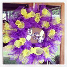 LSU deco mesh wreath