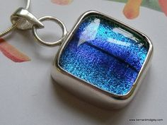 Sterling Silver & Stunning Blue Dichroic Pendant. £40.00, via Etsy from Bernard Midgley