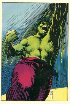 #Hulk #Fan #Art. By: Bill Sienkiewicz.