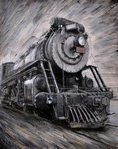 Valerio D'Ospina - Locomotive (Study), 2011