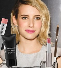 """Absolutely adore this latest dewy makeup ensemble from Emma Roberts!   Recreate it using Cargo_HD CC Cream, Colorstick in """"Key West"""" for the apples of your cheeks, define those lovely brows with our new Browy eye pencil and finish with Lip Color in """"Bombay!"""" 
