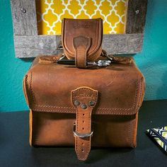 This Gadget Bag and Coin Purse are being used as a sewing box and kit. Nice!  | Saddleback Leather Co. | 100 Year Warranty