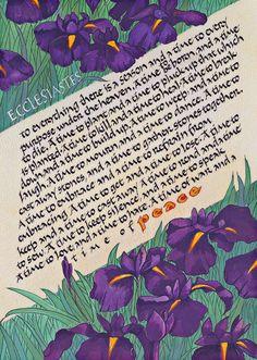 Ecclesiastes calligraphy print