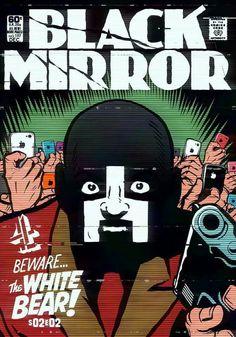 #Art #Black #Mirror #White #Bear