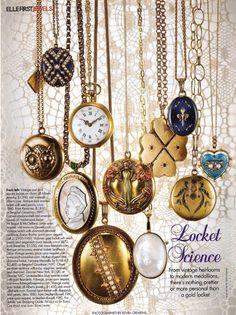 Lockets - Always a classic  Elle Magazine