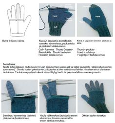 KF lapasten ja sormikkaiden neulominen 2 Baby Knitting Patterns, Stitch Patterns, Fingerless Gloves Knitted, Arm Warmers, Diy And Crafts, Knit Crochet, Sewing, Clothes, Fashion