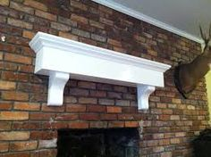 72 White Fireplace Mantle Shelf with Crown Molding and Corbels