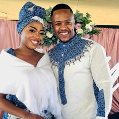Rego and Dise Said I Do in a Traditional Beautiful Wedding South African Traditional Dresses, African Traditional Wedding Dress, Traditional Outfits, Traditional Weddings, African Fashion Skirts, African Fashion Designers, Xhosa Attire, African Attire, African Wear For Ladies