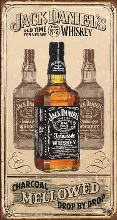 Jack Daniel's - Charcoal Cartel de chapa en AllPosters.com.ar. Want this poster in my bar