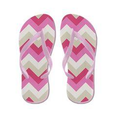 Pink and Beige #ZigZag Flip Flops #Zandiepants #flipflops