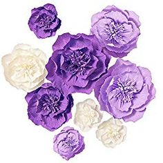 Ling's moment Paper Flower Decorations Set of Assorted), Handcrafted Artificial Crepe Paper Peony for Wall Nursery Wedding Backdrop Bridal Shower Centerpiece Monogram Birthday(Cream) Paper Flower Decor, Large Paper Flowers, Flower Decorations, Flower Wall Backdrop, Photo Booth Backdrop, Baby Shower Photo Booth, Paper Peonies, Bridal Shower Centerpieces, Crepe Paper