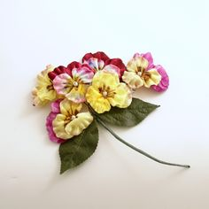 Vintage Pansy Pick Wedding Bouquet Flower Pick Corsage Millinery by efinegifts on Etsy