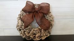 Vintage Patterned Base Wreath with Bow Homemade Wreaths, Front Door Decor, Burlap Wreath, Halloween Ideas, Monogram, Bows, Fall, Pattern, Flowers