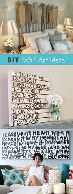 DIY Wall Art • Ideas & Projects! - LOVE the oars as a headboard! Perfect for our lake house!