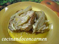 Cocinando con Carmen: ATUN AL HORNO CON CEBOLLA