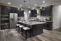 A chic and neutral kitchen from Shea Homes Colorado at one of our Shea3D™ models in Colliers Hill--Erie, CO.