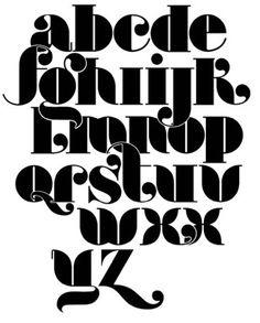 Lovin this alphabet. Types Of Lettering, Lettering Styles, Lettering Design, 1960s Font, Retro Font, Graffiti Lettering, Typography Letters, Letter Fonts, Creative Typography