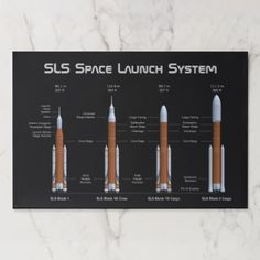 Shop SLS Space Launch System Rockets Paper Placemat created by GigaPacket. Space Launch System, Orion Spacecraft, Our Solar System, Deep Space, Space Shuttle, Rockets, Placemat, Science And Technology, Product Launch