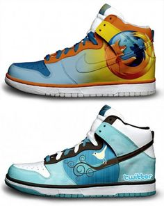 Twitter and Firefox sneakers