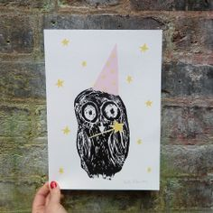Oh what lovely creates cute, fun and inspiring greeting cards, prints and notebooks that will brighten up your day! Owl Print, Greeting Cards, Fairy, Create, Prints, Fun, Inspiration, Child Room, Bedrooms