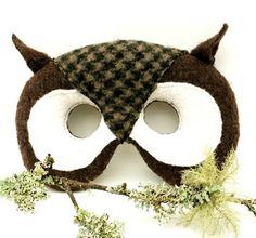 Epla er et nettsted for kjøp og salg av håndlagde og andre unike ting! Owl Mask, Owl Pet, Animal Masks, Cute Owl, Mask Making, Halloween Costumes, Crochet Hats, Owls, Unique Jewelry