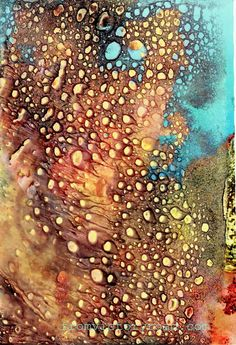 Citra Solv Discovery One of my favorite art mediums is using CitraSolv concentrated cleaner on National Geographic pages to dissolve the deep, rich inks into unexpected designs and effects which can be used as elements. Mixed Media Techniques, Painting Techniques, Frida Art, Action Painting, Tableau Design, Art Watercolor, Alcohol Ink Art, Art Graphique, Mixed Media Collage
