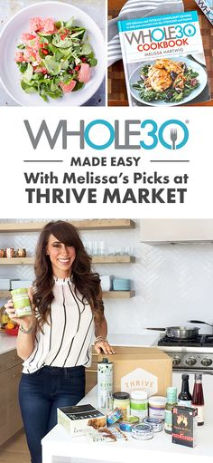 Melissa Hartwig partnered with Thrive Market to make shopping easy! Shop Melissa's Approved Product Catalog Exclusively at Thrive Market. Whole 30 Meal Plan, Whole 30 Diet, Paleo Whole 30, Whole 30 Recipes, Healthy Cooking, Get Healthy, Healthy Eats, Clean Eating Recipes, Healthy Dinner Recipes