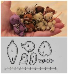a palm full of fuzzy cuteness!and a free pattern at that!a palm full of fuzzy cuteness!and a free pattern at that! Doll Patterns, Sewing Patterns, Sewing Crafts, Sewing Projects, Plush Pattern, Free Pattern, Creation Couture, Bear Doll, Sewing Dolls