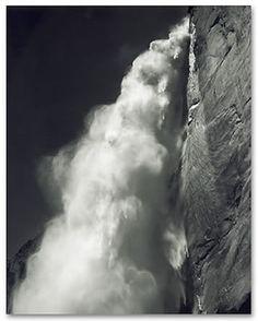 ansel adams water fall image