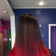 Red ombre ~ Hair Candy Salon Portland Indiana