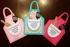 My little granddaughter Brooklyn is turning 6 next week and she wanted to have a cooking birthday party. I made these little invites for...