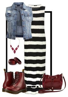 """""""How To Wear Stripes"""" by mommitubo-1 ❤ liked on Polyvore featuring M&Co, VILA, Dr. Martens, Billie & Blossom and NOVICA"""