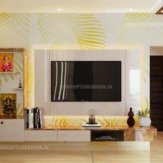 Tv Unit Interior Design, Hall Interior, Tv Wall Design, Tv Unit Design, Living Room Interior, House Design, Small Room Design Bedroom, Pooja Room Door Design, Kitchen Room Design