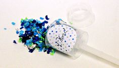 Set of 4 Extra large Colored confetti wands by BTrizCollections, $30.00