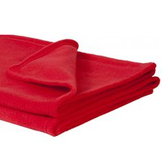 bac01197 - Soft Fleece Red Unbranded Baby Blanket